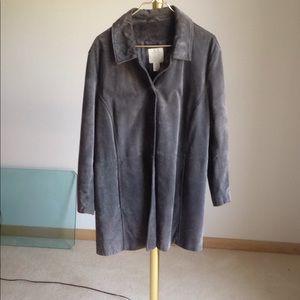 J.Jill Stylish Suede Coat
